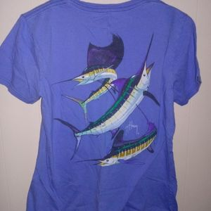 2 Diff. Guy Harvey Youth Blue Water Tee's